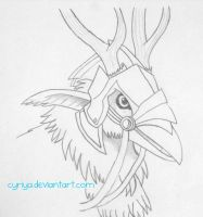 Hippogryph Headstudy by Cyriya