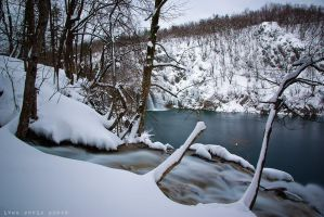 Plitvice in white 01 by ivancoric