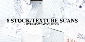 8 Notebook Stock Textures by draconis393