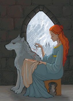 Sansa in Winterfell by zdrava