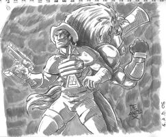 sketch a day 05 Bravestarr by chachaman
