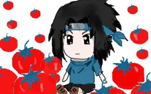 Sasuke and tomatoes by armida222