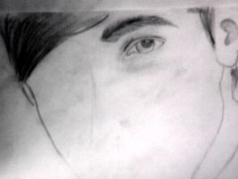 Face of Kendall (unfinished) by SayuriSchmidt