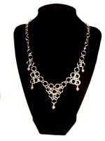 Japanese Chainmaille Necklace by littlemissysg