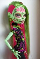 Monster High Venus Custom OOAK Day of the Dead by AdeCiroDesigns