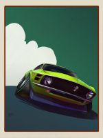 1970 mustang geoham style by 8kx