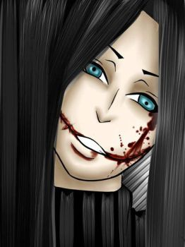 Slit Mouthed Woman by BlkBat