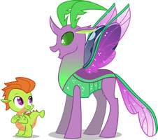 [AU] Thorax and Spike by LimeDazzle