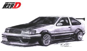Toyota AE86 Corolla Levin RS by toyonda