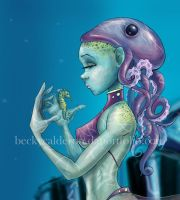 Octupus Girl Cropped by BexFx13