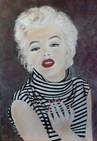 Marilyn Monroe Make-Up Drawing by SofiaMetaxas