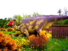 Dinosaur in the bushes by MannyDiax