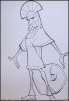 Kuzco lineart by MichelleWalker