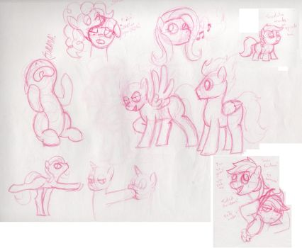More Pony sketches by Saphin