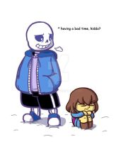 Undertale - Sans and Frisk by FighterAmy