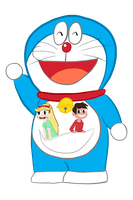 Art Trade: Doraemon, Star and Marco by KerryKoopa26