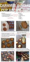 Caramel Biscuit Cup Tutorial by ClamWings
