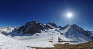Mountain with glaciers by voldemometr