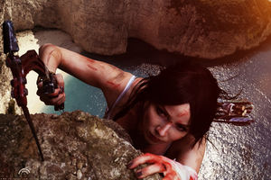 You can do it, Lara. After all, you're a Croft ! by Saskeks