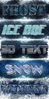 Winter 3D text effect by DiZa-74