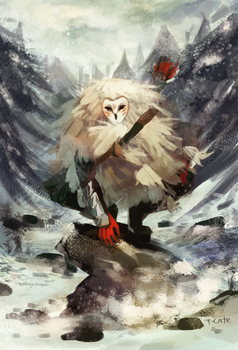 Owl man by P-cate