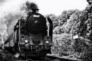 Steam engine CSD 464 - bw by antivir123