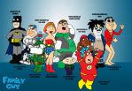 Family Guy Meets Superheroes 3 by kameleon84