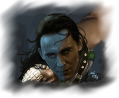 Loki-Master of the Ice (face) by LadyMintLeaf