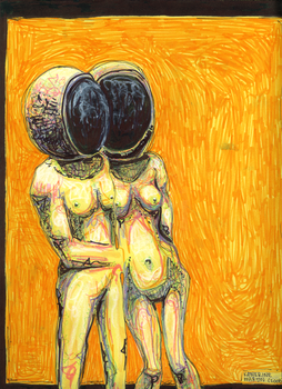 Nekkid conjoined astronaust? by THEVOMIST