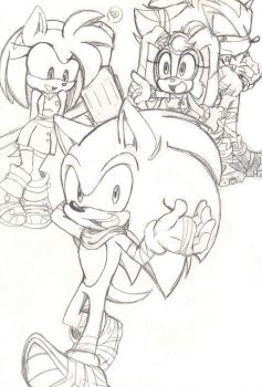 Sonic Boom: Sonic Amy Cream Shadow by Narcotize-Nagini