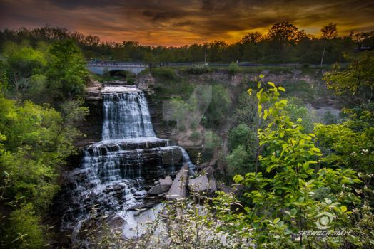 Albion Falls Under a beautiful sunset by SpencerSmye