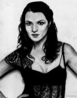 Rachel Weisz - charcoal by eajna