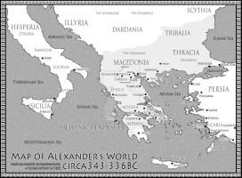 Alexander's World 343-336BCE by AlexanderAeternus