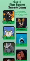 My Top Ten Favorite Villains by Sparkshot11