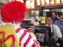 Ronald Ordering McDonalds by ApocalypticReignbow