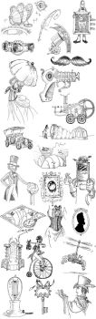 Steampunk Illustrations by willdrawforfood