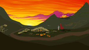 Land of Fossils and Pumpkins by Voltamin