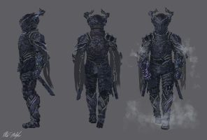 Fractal Armor Concept - Heavy version by PeterPrime
