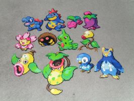pokemon perlers by R3YD1O