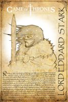 Game of Thrones Eddard STARK by H3IR