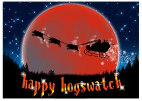 Hogswatch Card by funkydpression