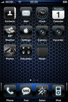 Blue theme - iPhone by Benjamin-Dandic