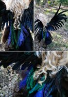 Custom Wings: Shimmering Peacock by IcarusLoveMedley