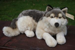 Plush wolf by Playkids by Huskyplush