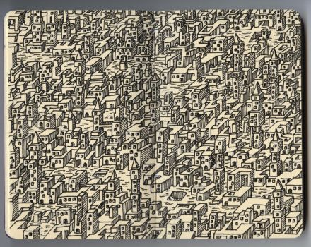Study for City of 24 Towers by il-Leo