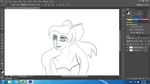 Ariel in process by trisart245