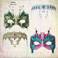 Masks by oldhippieart