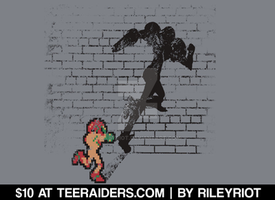 Becoming a Legend - Samus@TeeRaiders by RileyRiot