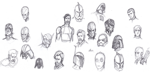 Star Wars Work Sketches by ConstantM0tion