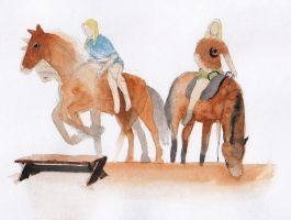 horses and riders by RobleskaZeppelin